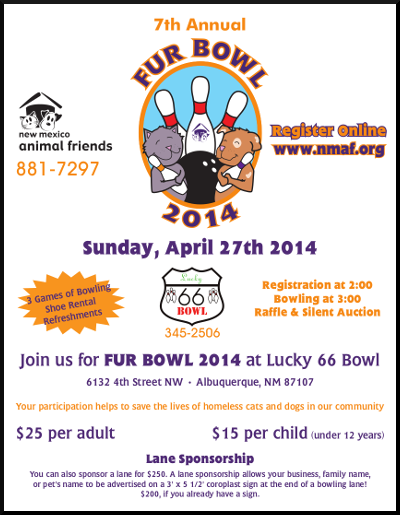 image of Fur Bowl 2014 Flyer